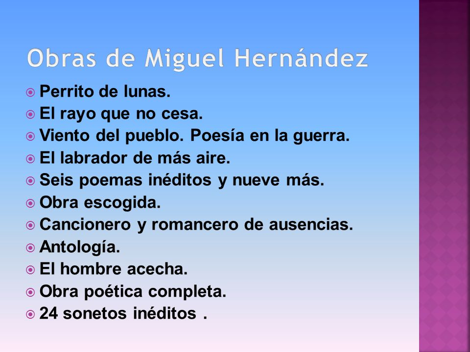 Obras de Miguel Hernández