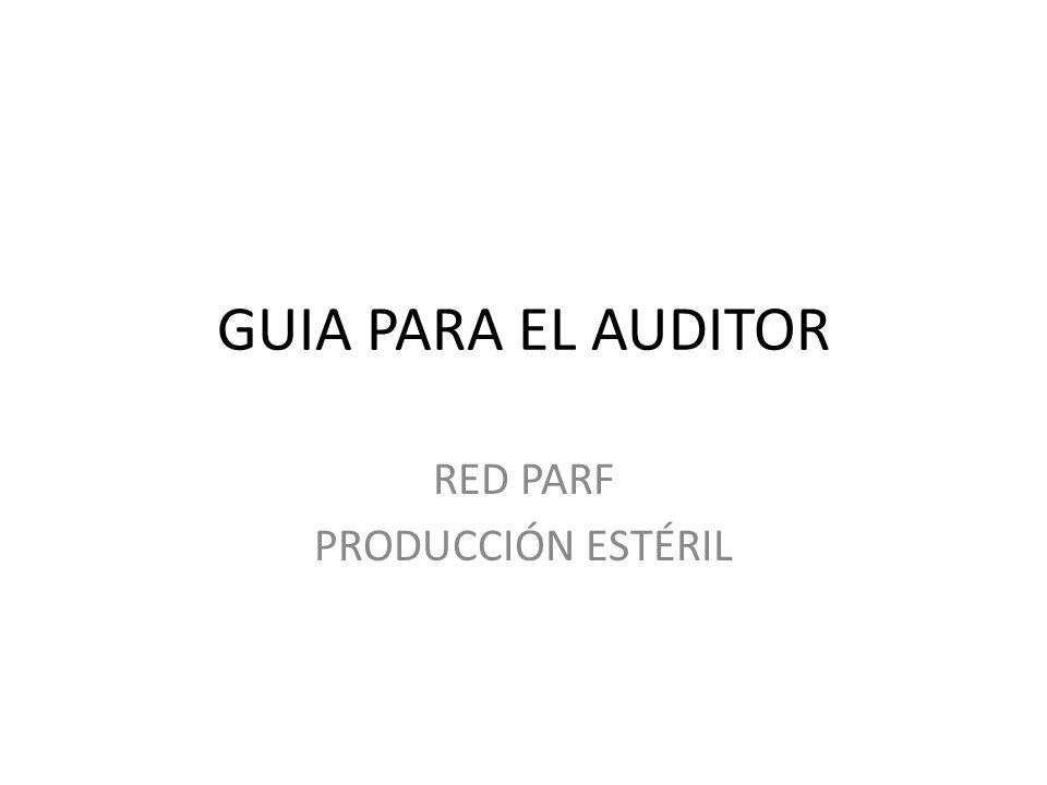 RED PARF PRODUCCIÓN ESTÉRIL