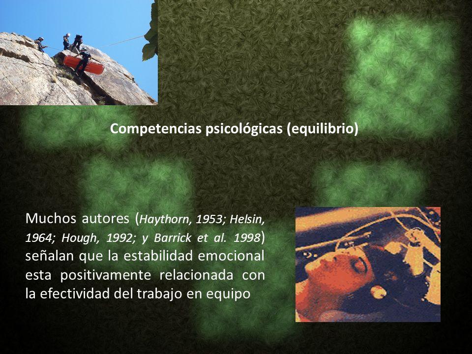 Competencias psicológicas (equilibrio)