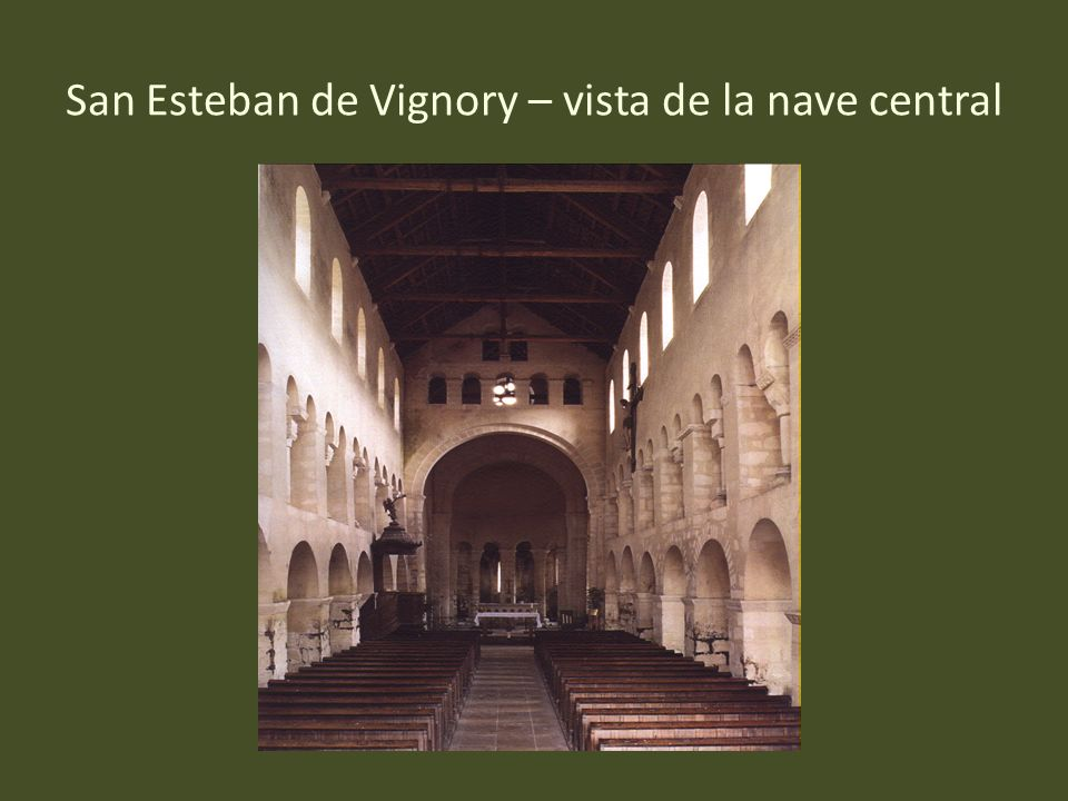 San Esteban de Vignory – vista de la nave central