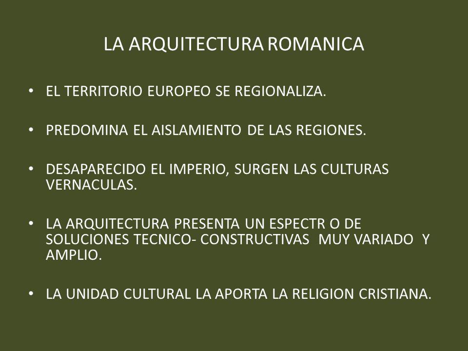 LA ARQUITECTURA ROMANICA