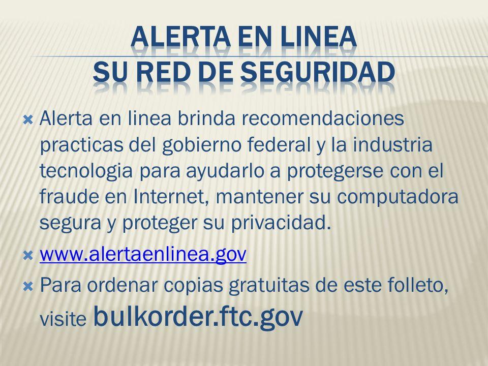 Alerta en linea su red de seguridad
