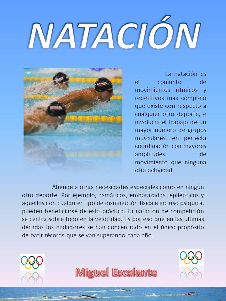 NATACIÓN Miguel Escalante
