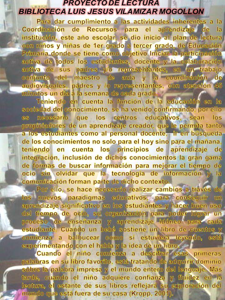 BIBLIOTECA LUIS JESUS VILAMIZAR MOGOLLON