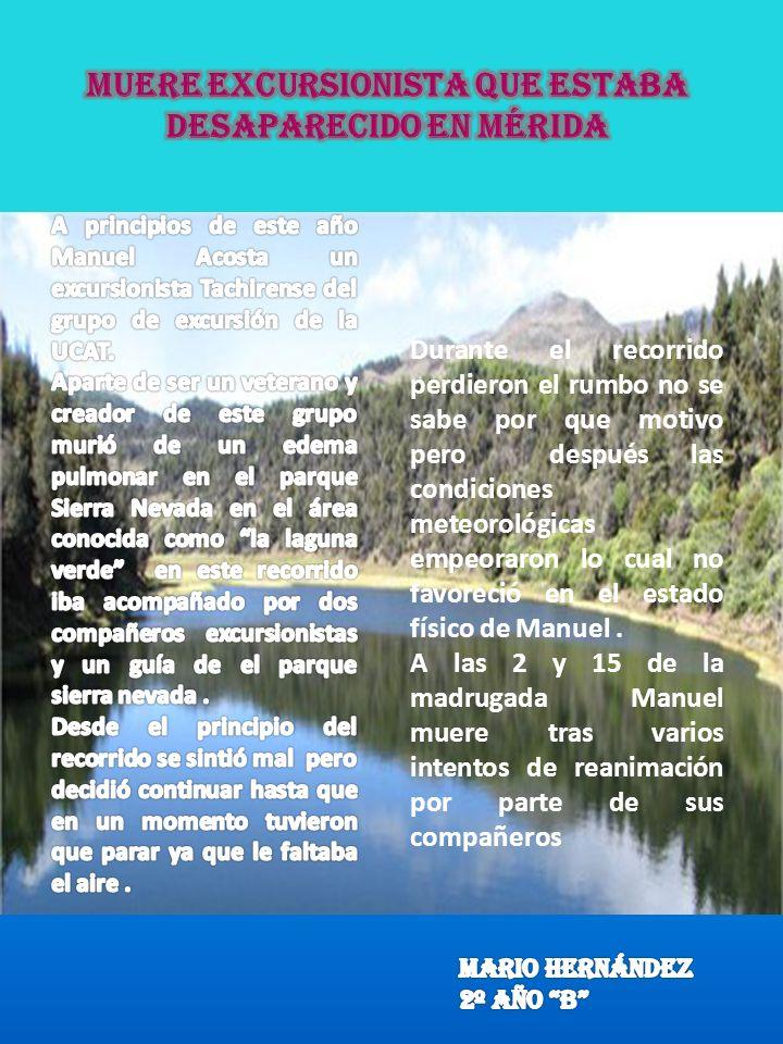 Muere excursionista que estaba desaparecido en Mérida