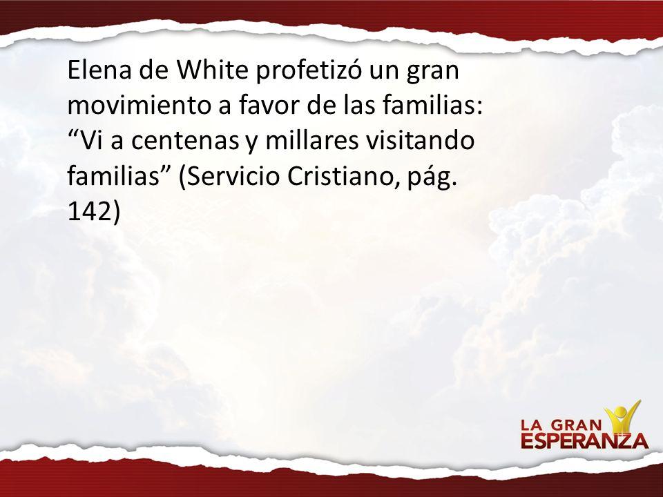 Elena de White profetizó un gran movimiento a favor de las familias: