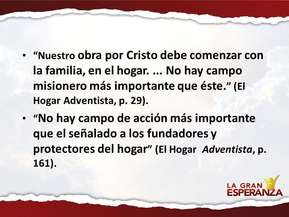 Nuestro obra por Cristo debe comenzar con la familia, en el hogar