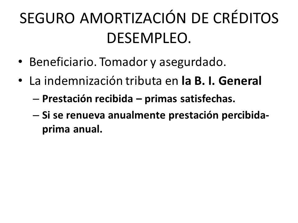 SEGURO AMORTIZACIÓN DE CRÉDITOS DESEMPLEO.
