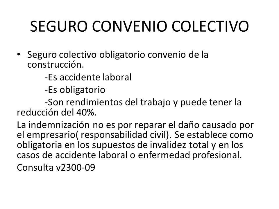 SEGURO CONVENIO COLECTIVO