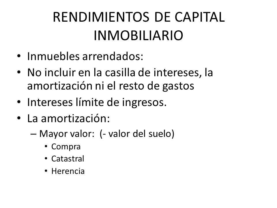 RENDIMIENTOS DE CAPITAL INMOBILIARIO