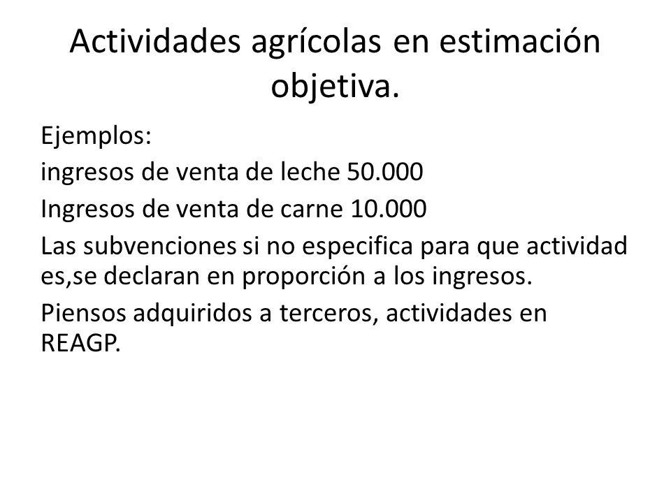 Actividades agrícolas en estimación objetiva.
