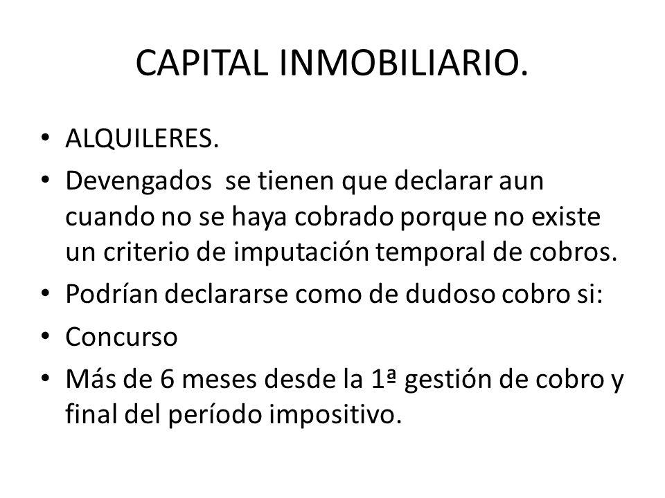 CAPITAL INMOBILIARIO. ALQUILERES.