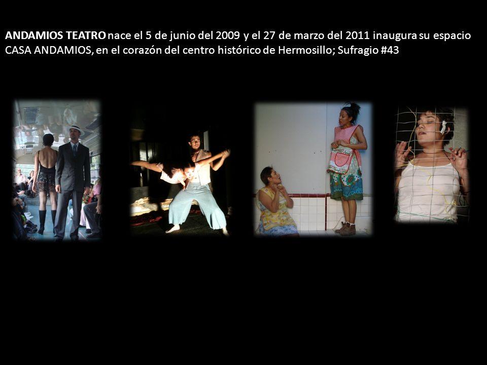 ANDAMIOS TEATRO nace el 5 de junio del 2009 y el 27 de marzo del 2011 inaugura su espacio