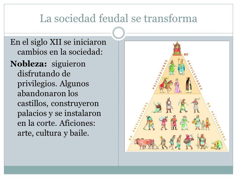 La sociedad feudal se transforma