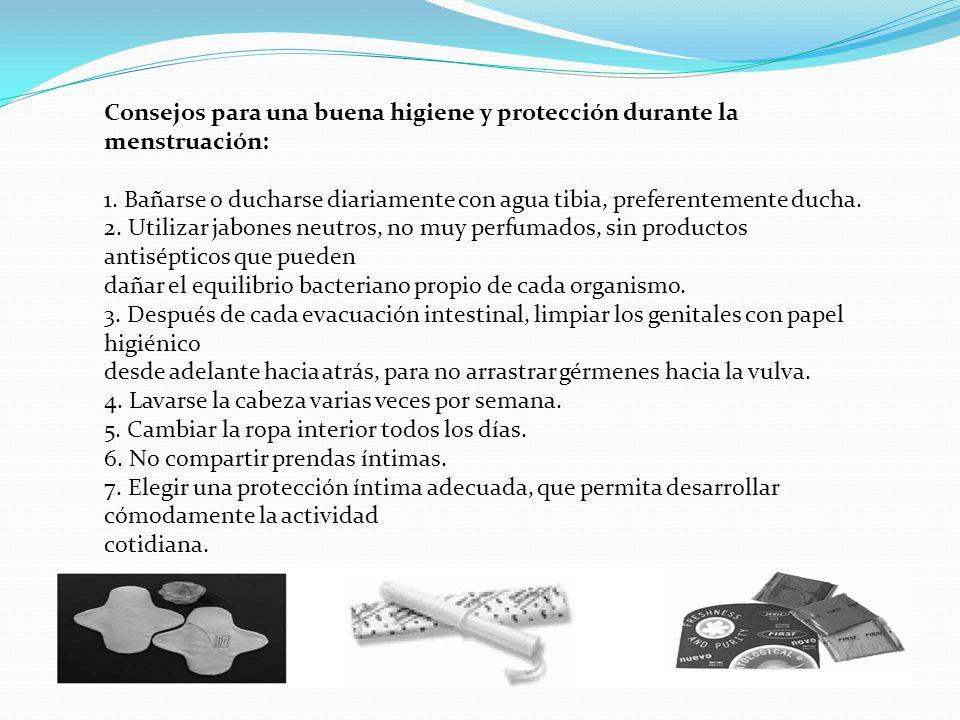 Consejos para una buena higiene y protección durante la menstruación: