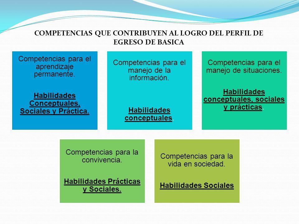 COMPETENCIAS QUE CONTRIBUYEN AL LOGRO DEL PERFIL DE EGRESO DE BASICA