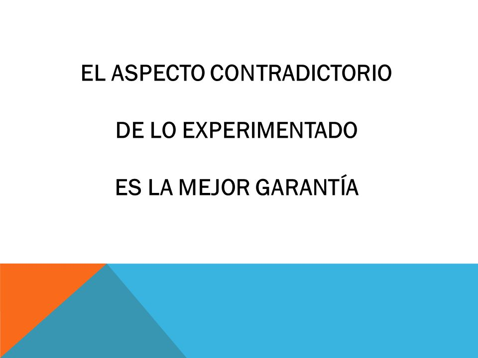 EL ASPECTO CONTRADICTORIO
