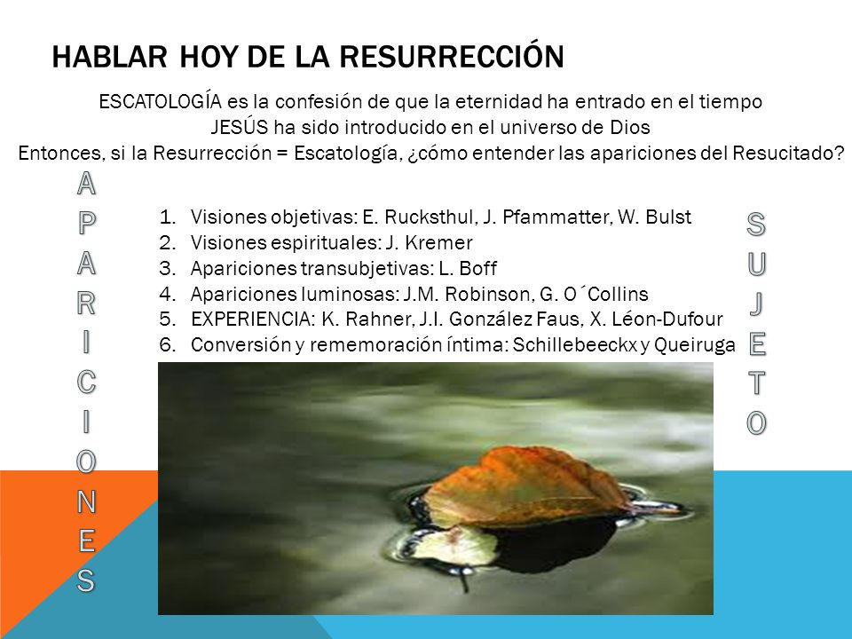 Hablar hoy de la resurrección