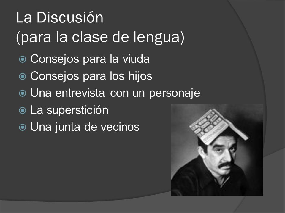 La Discusión (para la clase de lengua)