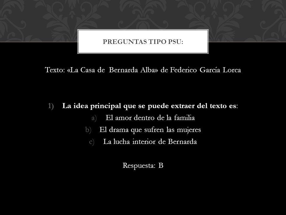 Intertextualidad intratextualidad y metatextualidad ppt - Preguntas y respuestas de la casa de bernarda alba ...