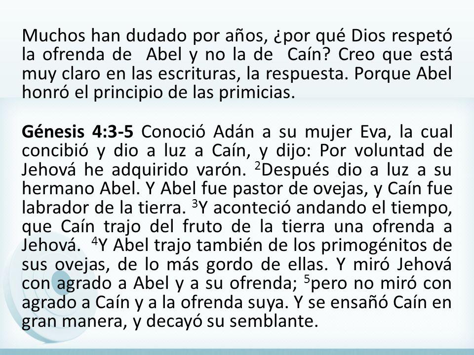 Muchos han dudado por años, ¿por qué Dios respetó la ofrenda de Abel y no la de Caín.