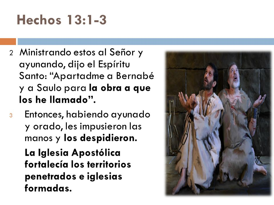Hechos 13:1-3