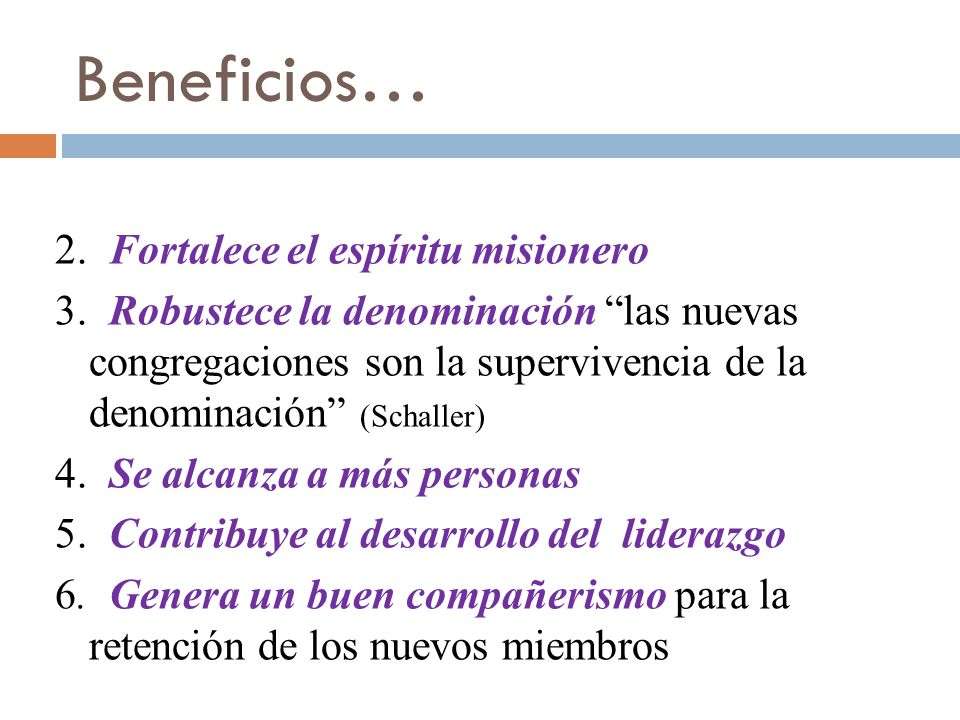 Beneficios…