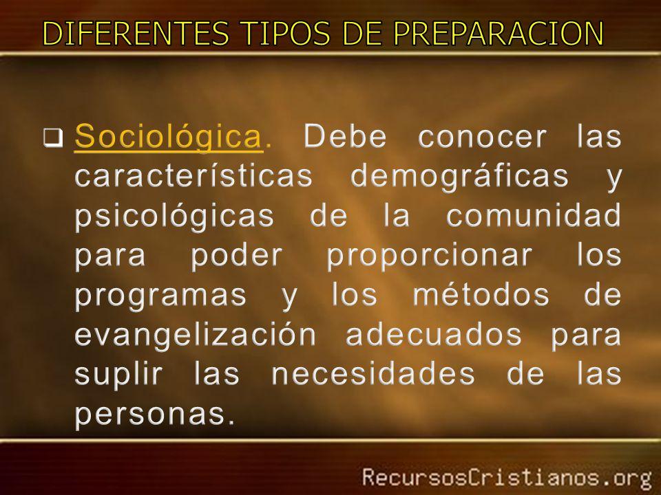 DIFERENTES TIPOS DE PREPARACION