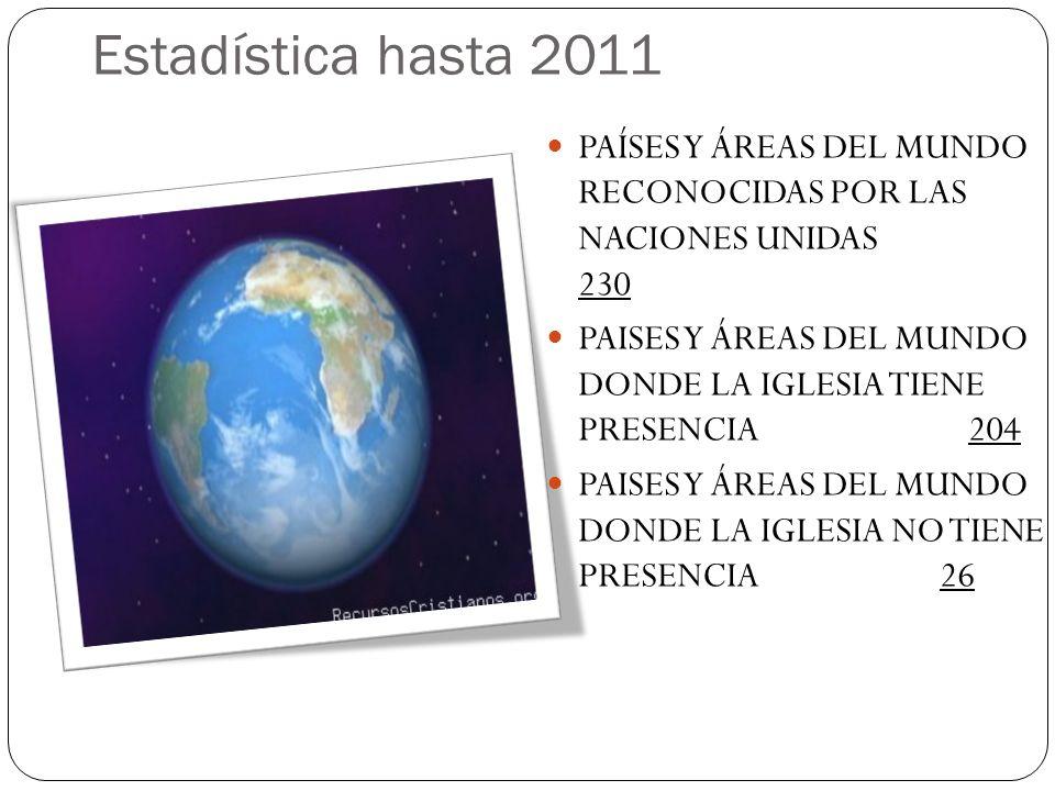 Estadística hasta 2011 PAÍSES Y ÁREAS DEL MUNDO RECONOCIDAS POR LAS NACIONES UNIDAS 230.