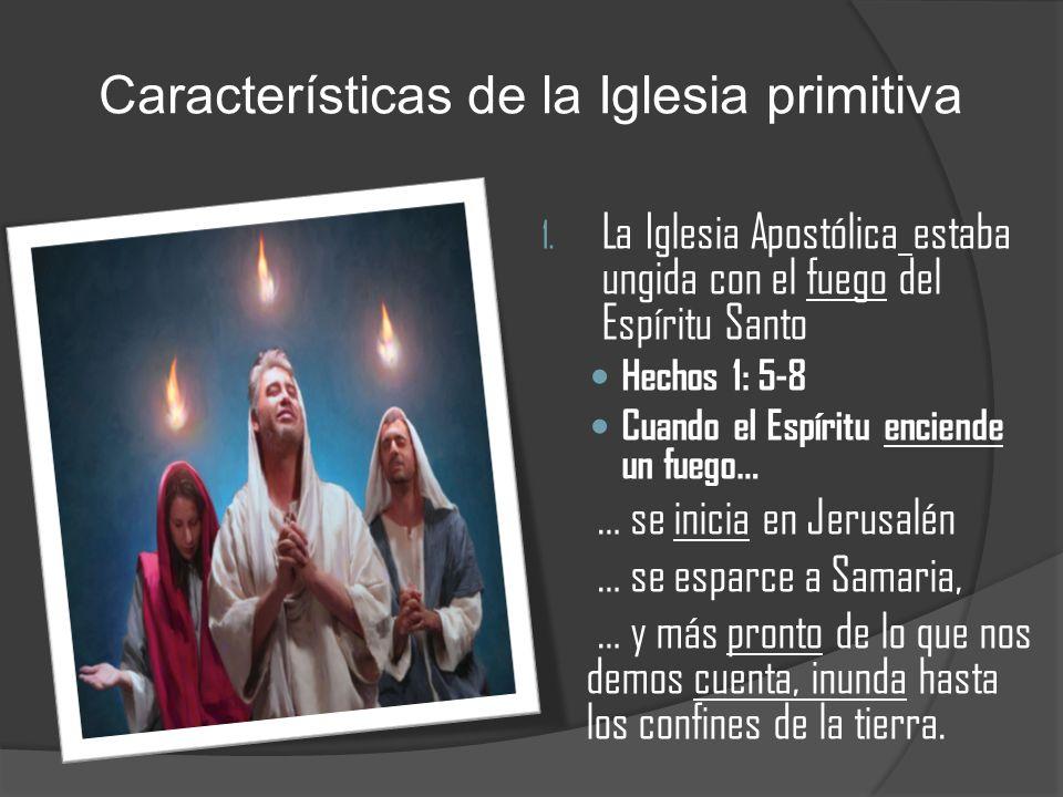 Características de la Iglesia primitiva
