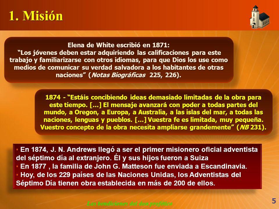 Elena de White escribió en 1871: Las bendiciones del don profético