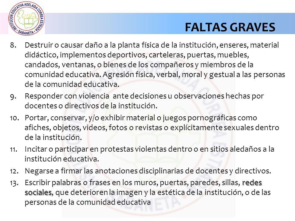 FALTAS GRAVES