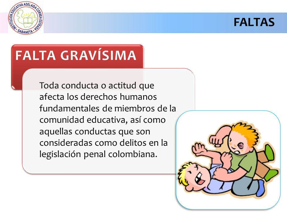 FALTA GRAVÍSIMA FALTAS