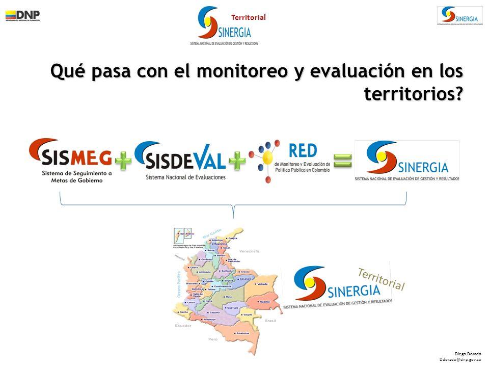 Qué pasa con el monitoreo y evaluación en los territorios