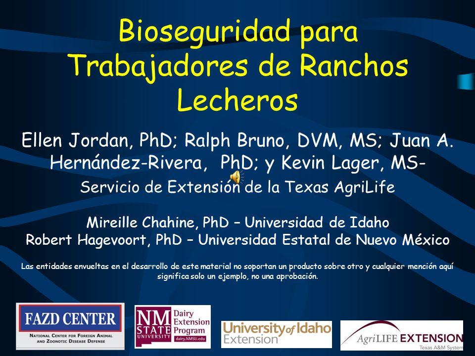 Bioseguridad para Trabajadores de Ranchos Lecheros