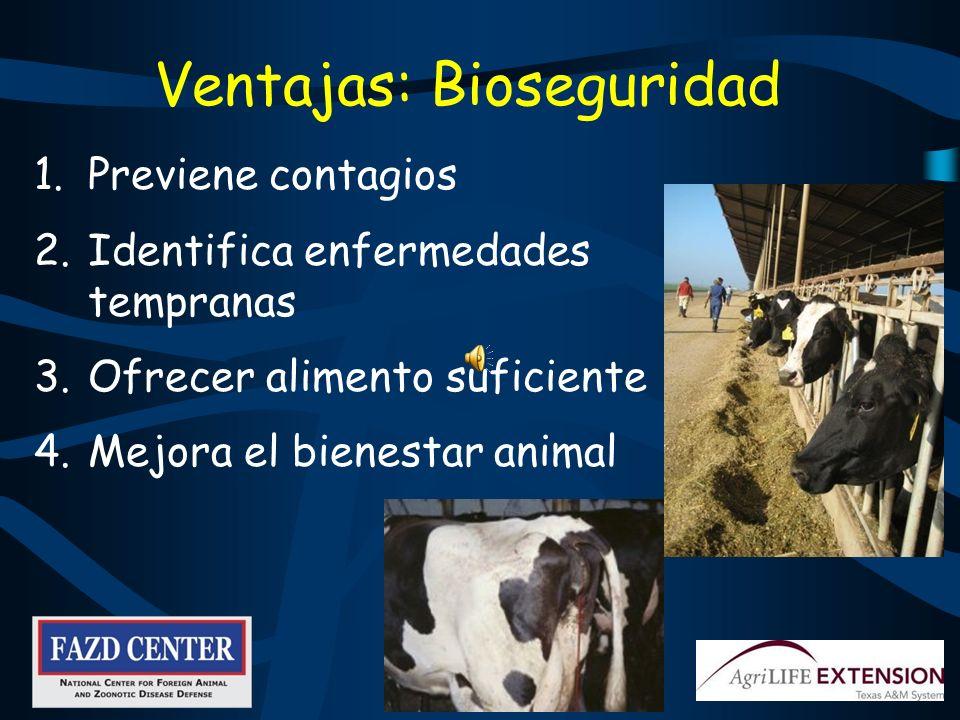 Ventajas: Bioseguridad