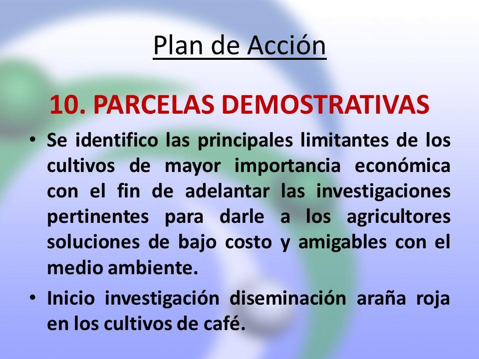 10. PARCELAS DEMOSTRATIVAS