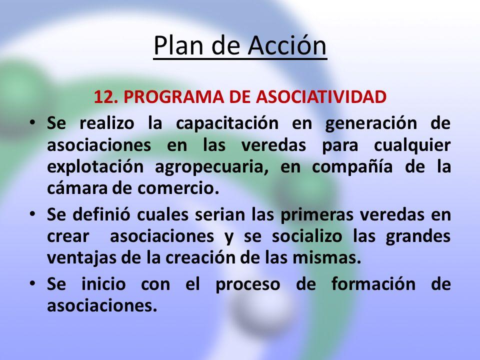 12. PROGRAMA DE ASOCIATIVIDAD