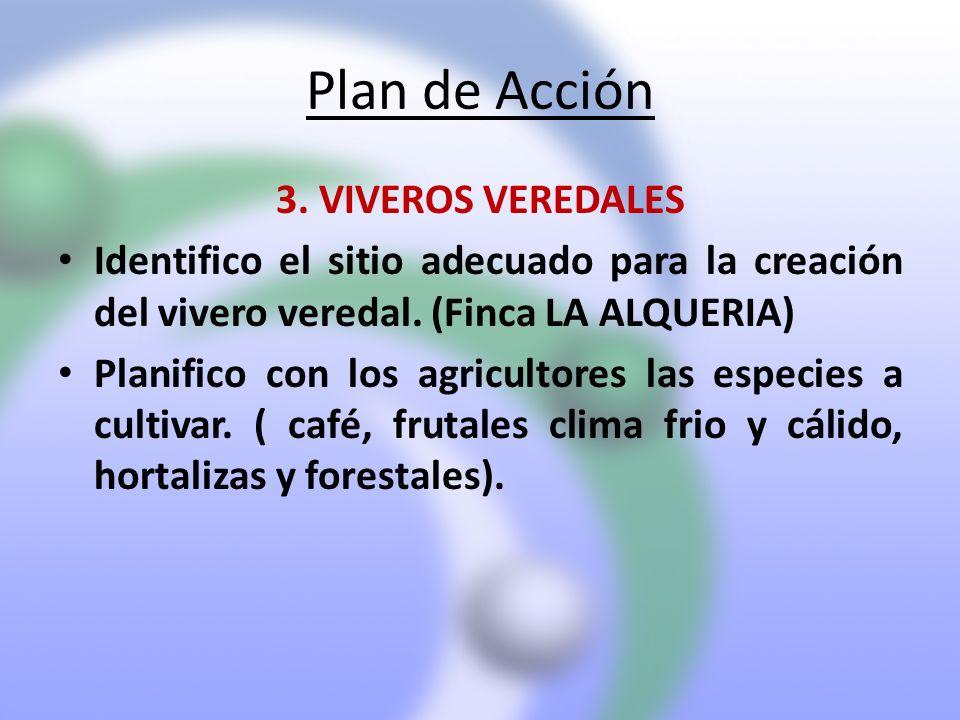 Plan de Acción 3. VIVEROS VEREDALES