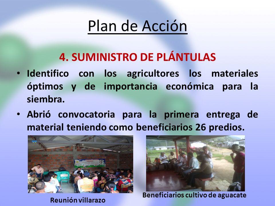 4. SUMINISTRO DE PLÁNTULAS