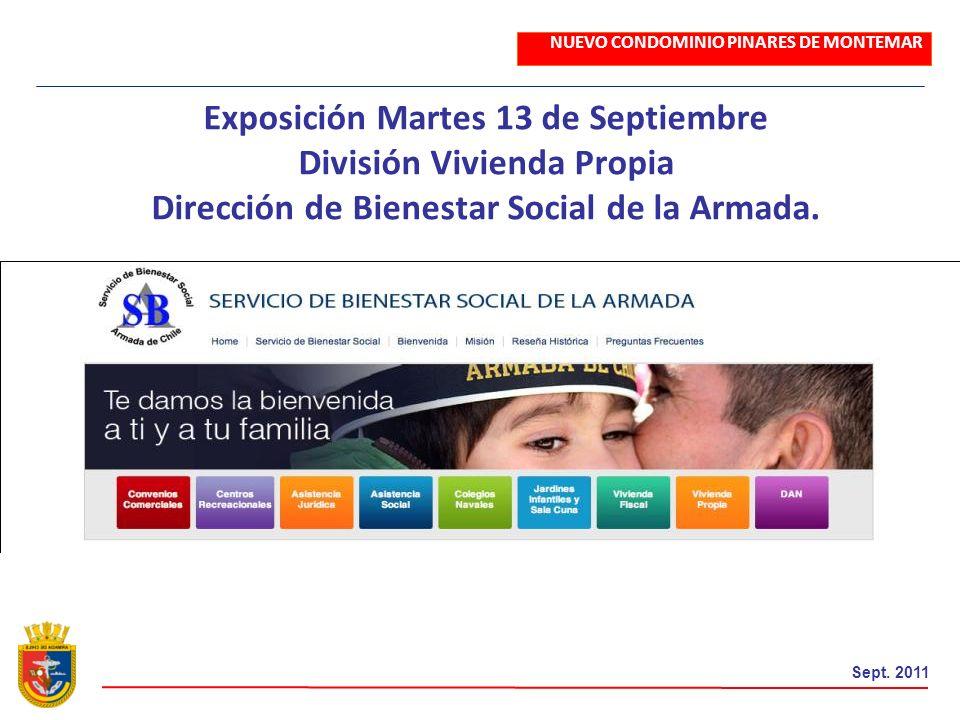 Exposición Martes 13 de Septiembre División Vivienda Propia