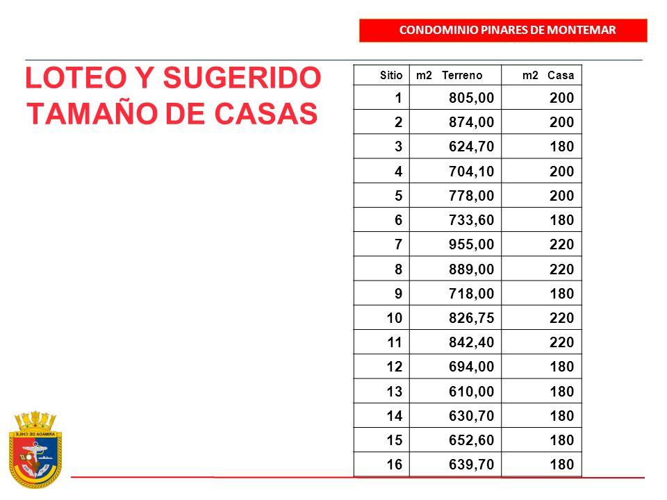 LOTEO Y SUGERIDO TAMAÑO DE CASAS
