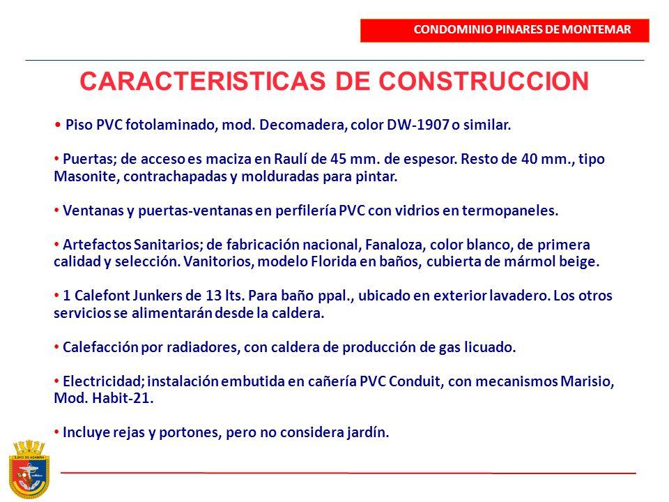 CARACTERISTICAS DE CONSTRUCCION
