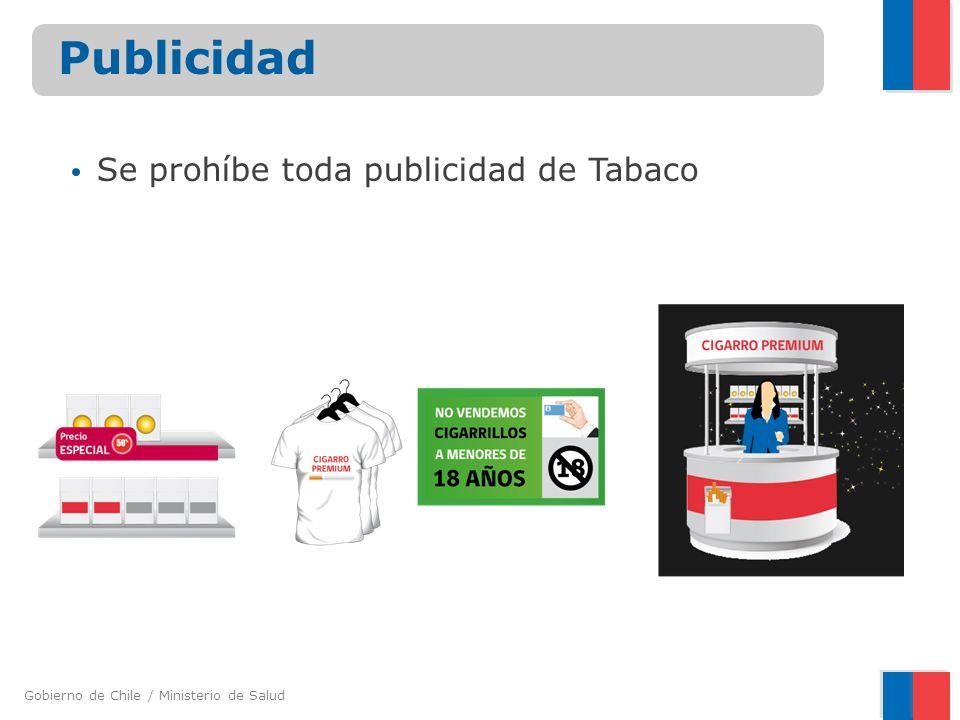 Se prohíbe toda publicidad de Tabaco