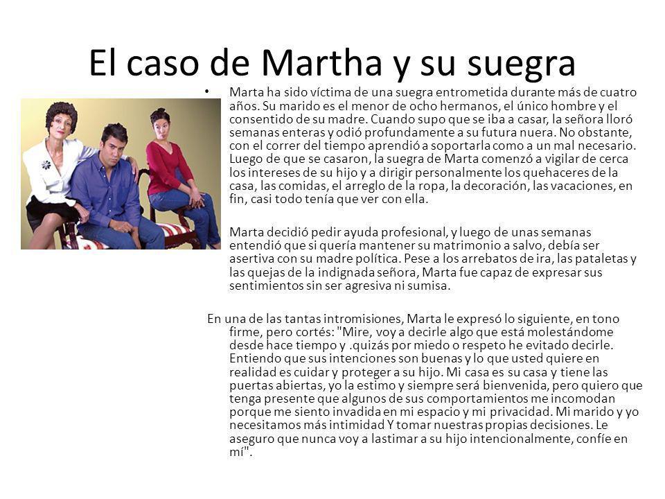 El caso de Martha y su suegra