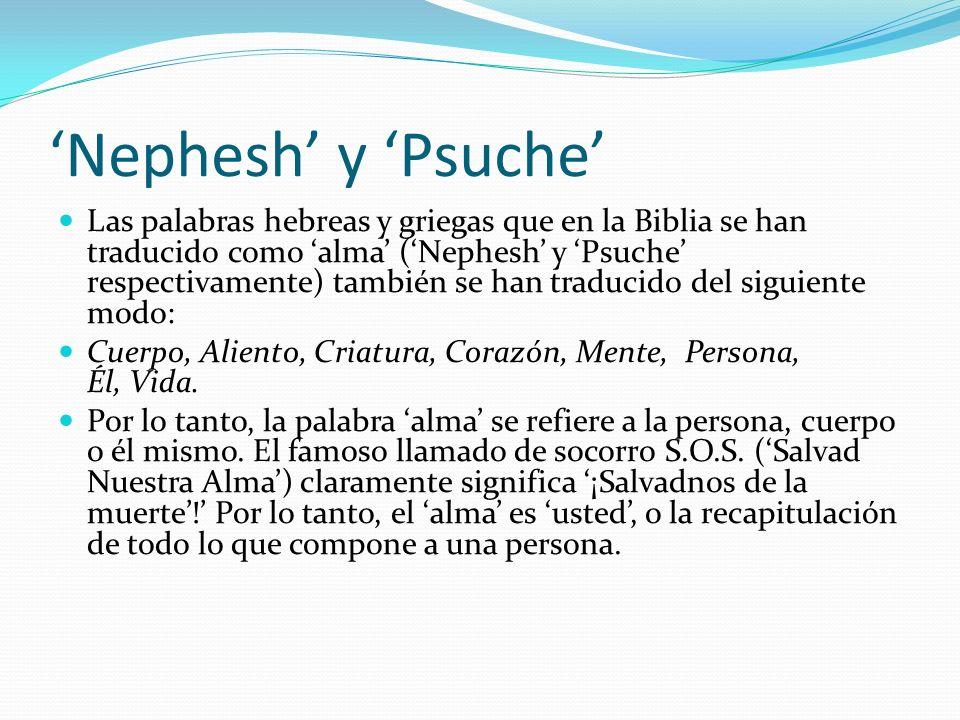 'Nephesh' y 'Psuche'