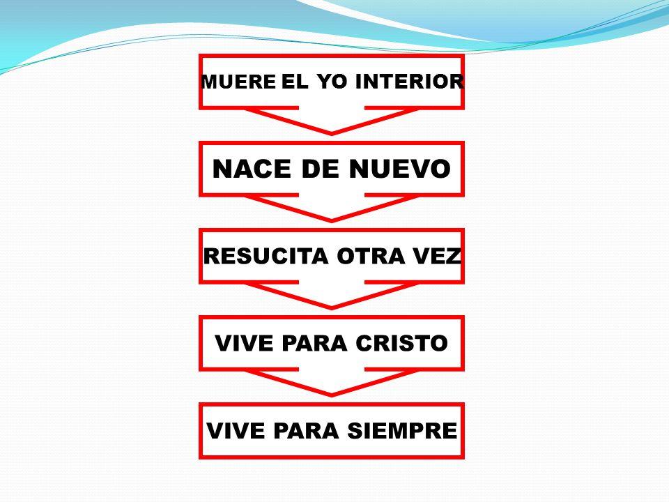 NACE DE NUEVO RESUCITA OTRA VEZ VIVE PARA CRISTO VIVE PARA SIEMPRE