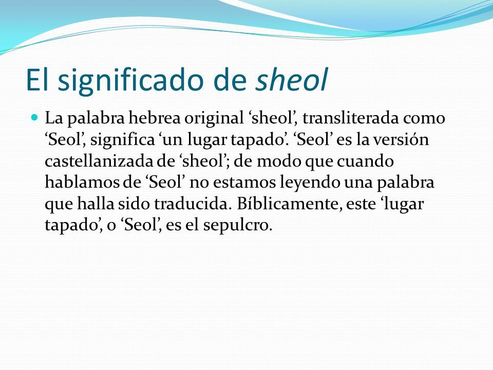 El significado de sheol