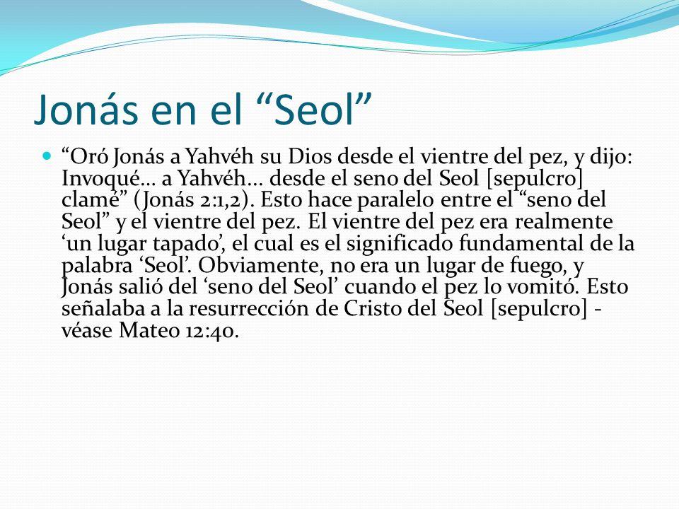 Jonás en el Seol