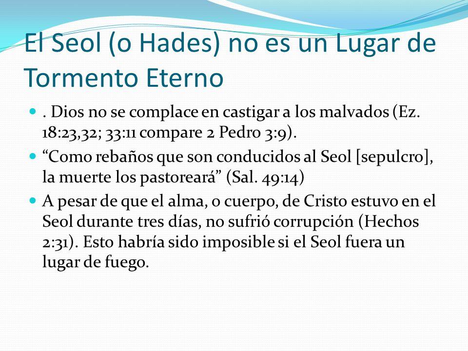 El Seol (o Hades) no es un Lugar de Tormento Eterno